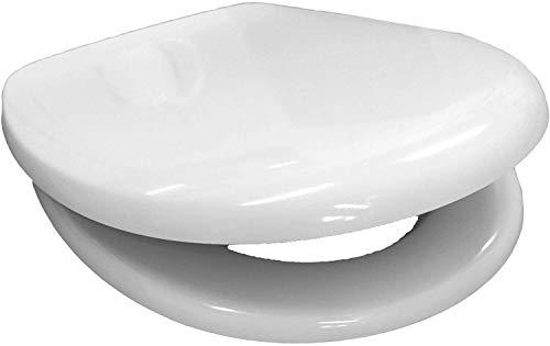 WC-Sitz für DIANA | mit Absenkautomatik SoftClose | Edelstahlscharnier | weiß | O200