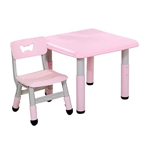 Tische und Stühle Kinder Kunststoff Einstellbare Baby Learning Table Home Meal Zeichnung Baby-Beistelltisch Little (Color : Pink)