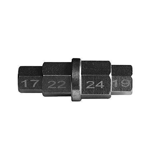 VISLONE Innensechskant-Spindelwerkzeug zum Entfernen des Vorderreifens eines Motorrad, 17 mm, 19 mm, 22 mm, 24 mm 6-kant Spezial Schlüssel für BMW YAMAHA HONDA 17 mm, 19 mm, 22 mm, 24 mm