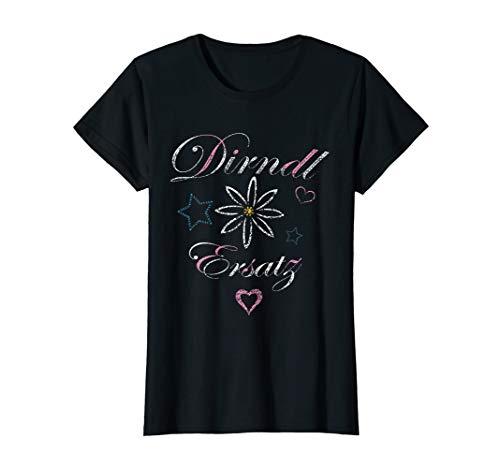 Dirndl Ersatz mit Edelweiß - Wiesn Trachten Damen Frauen T-Shirt