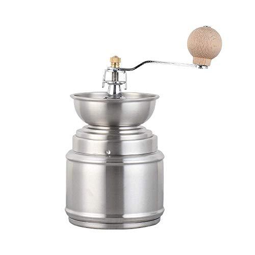 WYZQ Molinillo Manual Mini Molino portátil de Especias para nueces Herramienta de Mano Acero Inoxidable Cepillado Ligero Mango fácil Adecuado para Viajes de Oficina en casa (Plata), Juegos de té
