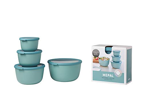Mepal CIRQULA Schüssel Set, Plastik, Grün, 230x230x130