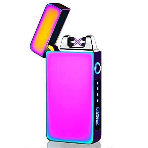 bågtändare, elektrisk tändare, USB vindtät plasma dubbel båge s beröring eld rökare pryl gåva -Isfärg
