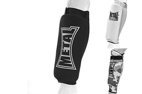 METAL BOXE MB152 - Espinilleras de Boxeo, Color Negro, Talla L