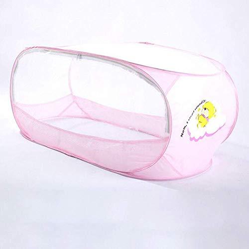 GANG Baby Mosquito Net, 110 65 65 cm Tienda de Viaje de Bebé con Cremallera Bidireccional, Cuna para Bebés Portátil Cuna de Cuna Plegable Uso Al Aire Libre para 0-24 Meses Bebé Port
