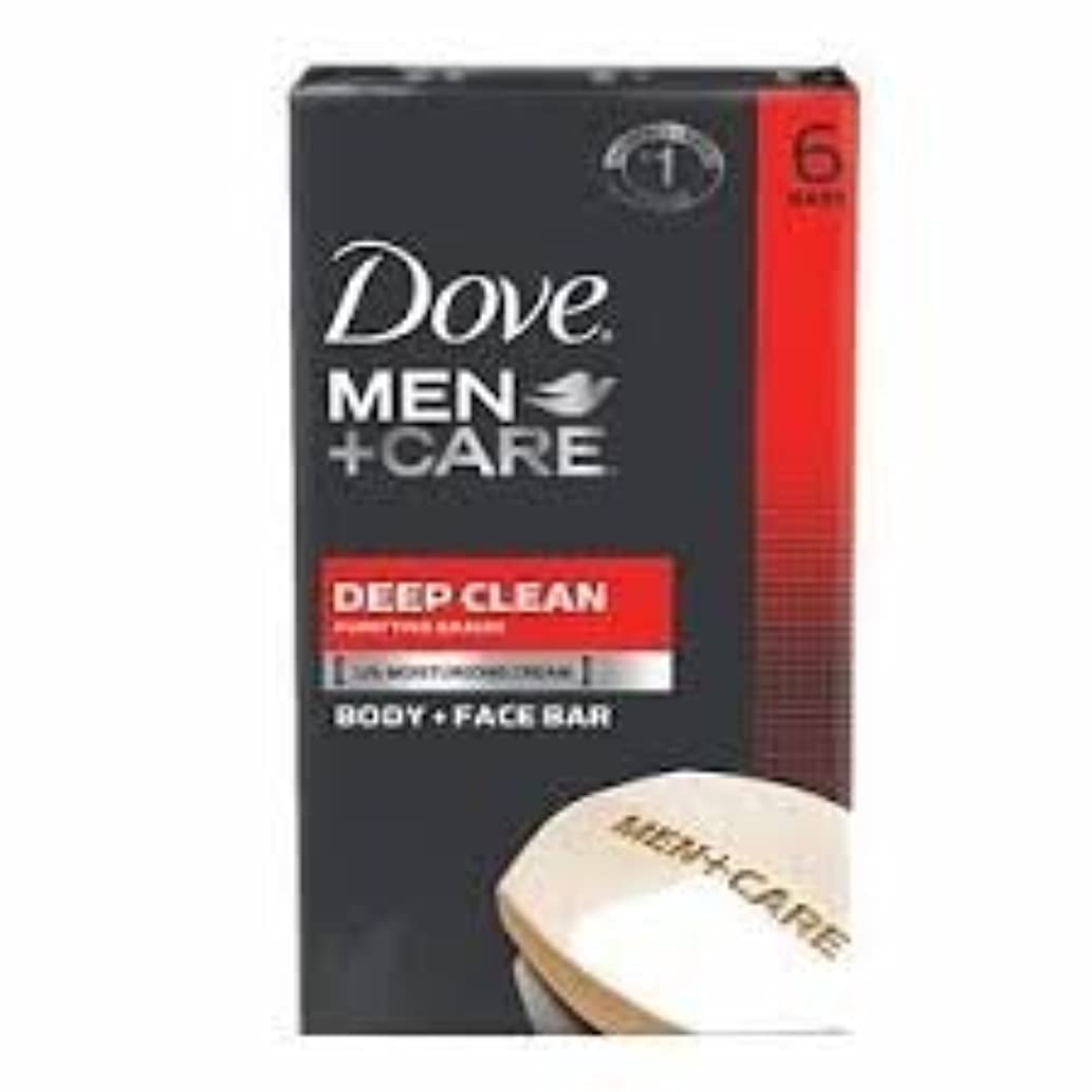 バング噴水彼らDove Men + Care Body and Face Bar, Deep Clean 4oz x 6Bars ダブ メン プラスケア ディープ クリーン ソープ 4oz x 6個