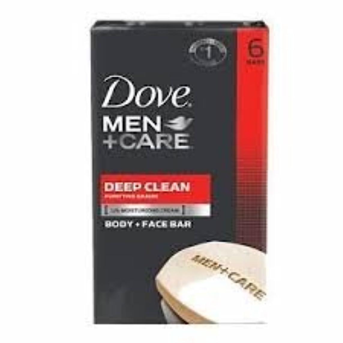 過度の手荷物財政Dove Men + Care Body and Face Bar, Deep Clean 4oz x 6Bars ダブ メン プラスケア ディープ クリーン ソープ 4oz x 6個