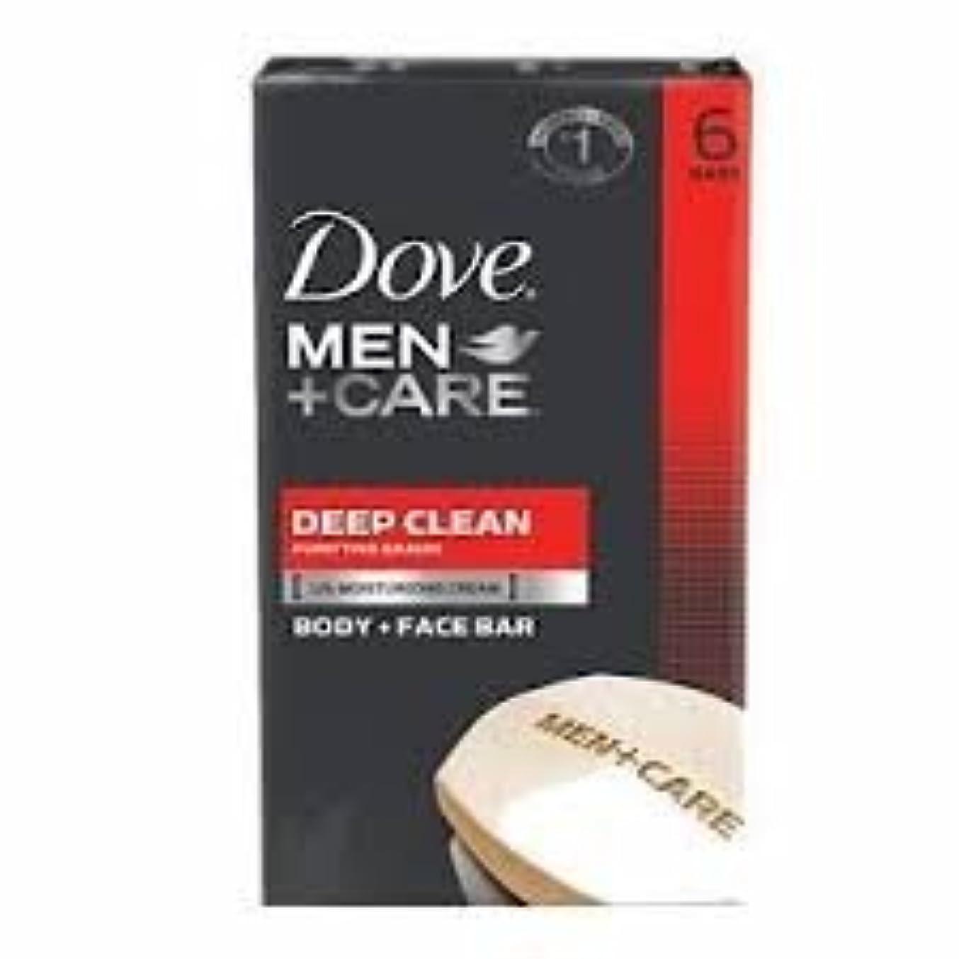 不条理心理学机Dove Men + Care Body and Face Bar, Deep Clean 4oz x 6Bars ダブ メン プラスケア ディープ クリーン ソープ 4oz x 6個