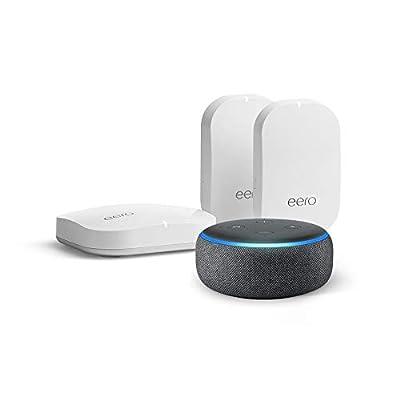 eero Pro mesh wifi system (1 eero Pro + 2 eero Beacons) with Free Echo Dot