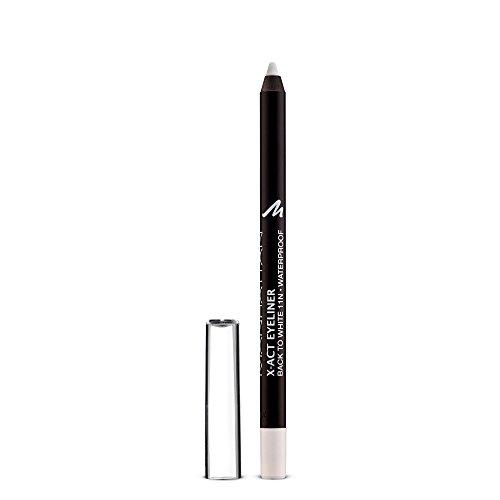 Manhattan X-Act Eyeliner Pen – Weißer Eyelinerstift für den perfekten Lidstrich – Waterproof – Farbe Black To White 11N – 1 x 1g