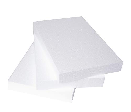 Silverlake Craft Foam Block - 3 Pack of 11x17x2 EPS Polystyrene Blocks for Crafting, Modeling, Art Projects and Floral Arrangements - Sculpting Sheets for DIY School & Home Art Projects
