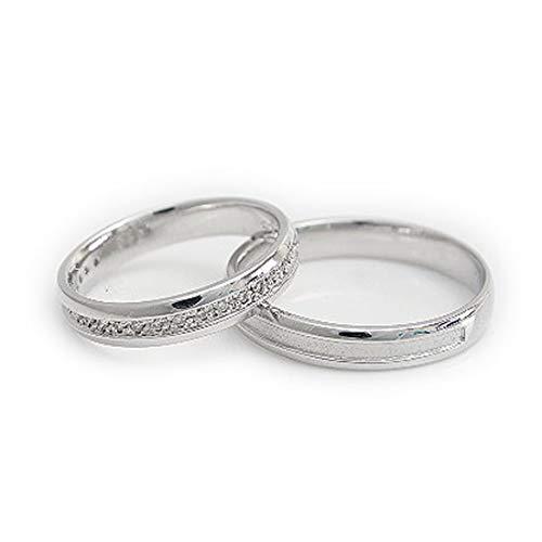 [ココカル]cococaru ペアリング プラチナ 結婚指輪 プラチナ Pt900 2本セット マリッジリング ダイヤモンド 日本製(レディースサイズ13号 メンズサイズ17号)