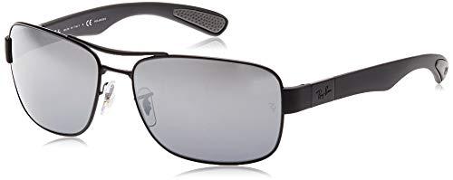 Ray-Ban Unisex RB3522 Sonnenbrille, Schwarz (Gestell: Schwarz, Gläser: Polarized Silber Verspiegelt 006/82), X-Large (Herstellergröße: 64)