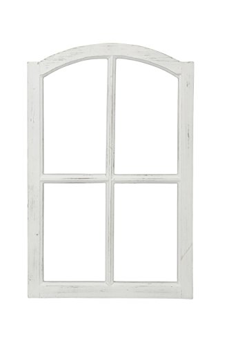 Posiwio Marco decorativo de madera para ventana, estilo vintage, color blanco