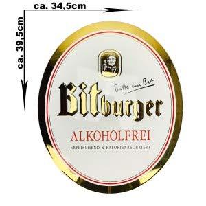 Bitburger Pils Bier Schild Emailschild Werbeschild Werbetafel Reklame Blechschild - ca. 39,5 x 34,5 cm