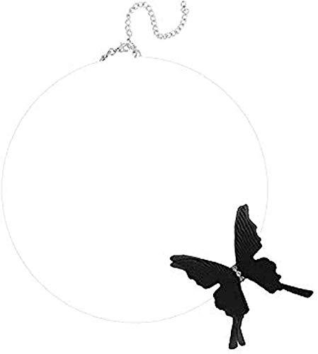 LKLFC Collar Mujer Collar Hombre Collar Mariposa Collar de Hilo de Red Collar de Cadena de clavícula Collar Colgante Corto Regalo para Mujeres Hombres Niñas Niños Collar Colgante Niñas Niños Regalo