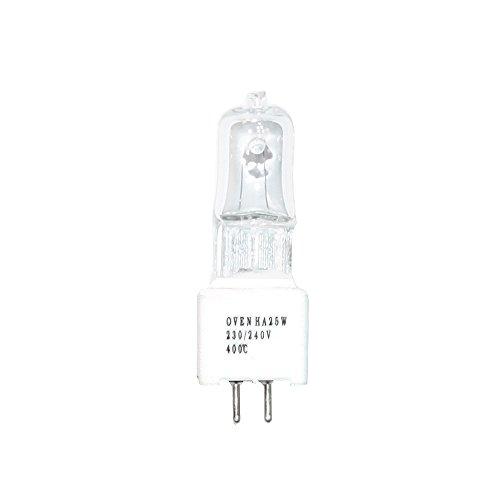 JCD Halogen Backofenlampe 25W GZ5,3 400° 230V klar Oven HA SIL