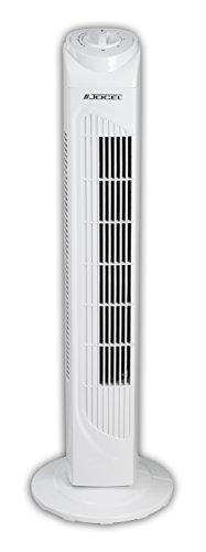 Jocel JVT030542 Ventilador de Torre, 50 W, Plástico, 3 Velocidades, Blanco