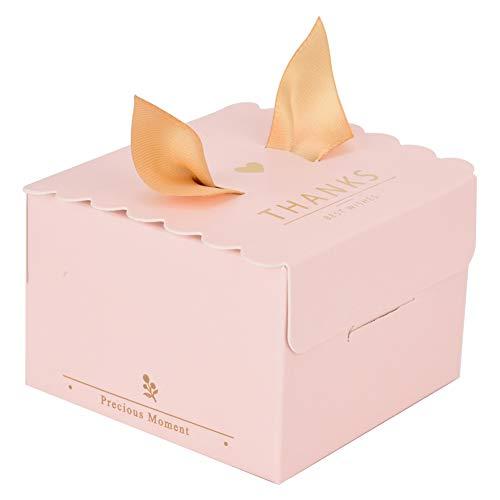 50 stuks bruiloft papieren geschenkdoos snoepgoed chocolade taart decoratie doos voor festivals jubilea feesten