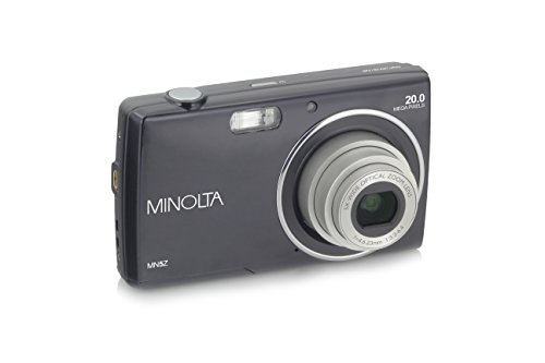 Minolta 20 Mega Pixels Digital Camera, 5X Optical Zoom & HD Video with 2.7' LCD, Black (MN5Z-BK)
