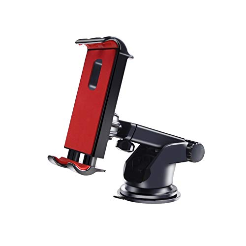 ZSHXX Tableta del teléfono del Coche Tablet Universal Computer Soporte de succión Placa de la Placa Accesorios para automóviles (Color : Red)