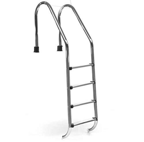 Escalera de 4 peldaños - ladder para piscinas enterradas - acero inoxidable