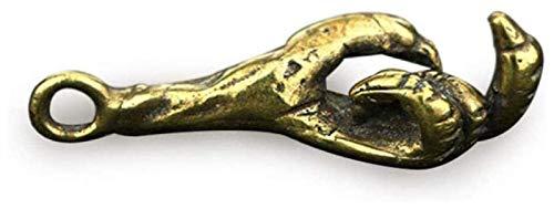 ZJSXIA Statuescraft Bronce águila Garra Colgante Puro Cobre pájaro Garra Pendiente latón Llavero Colgante joyería Adornos Laton
