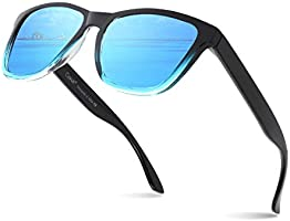 Cyxus Sunglasses for man, Polarised Retro Spring Hinge 100% UV400 Protection Eyewear