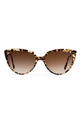 PAUL VALENTINE® Giulia - Sonnenbrille Damen - Handgefertigt in Italien - Extra starker UV-Schutz mit UV-400 Sonnenschutz Gläsern - Aus hochwertigem Azetat - Cateye Sonnenbrille - BRAUN