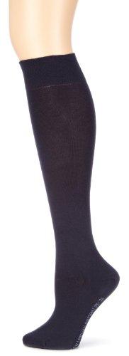 Hudson - Calcetines hasta la rodilla relaxed opacas para mujer, color Azul marino 335, talla 39/42