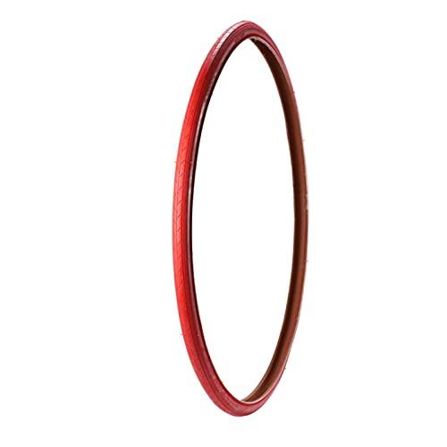 Neumáticos de bicicleta 700C 700 * 23C Neumáticos rojos engranajes fijos Neumático de bicicleta de carretera 700 23c 100 PSI Accesorios de ciclismo Ultralight 435G Color rojo ( Color : Red 700x23c )