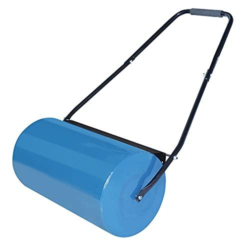 NAIZY Handroller tuinwals, gazonwals vulbaar met 57 cm rolbreedte, 32 cm diameter, 46 l vulvolume metalen gazonroller…