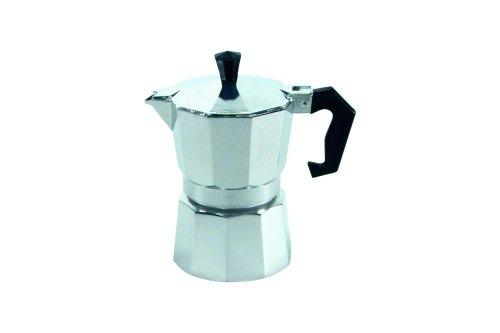 Krüger 486778 ITALIANO Alu-Espressokocher 3 Tassen, Aluminium, Transparent