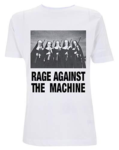 Rage Against The Machine 'Nuns and Guns' (White) T-Shirt (Medium)