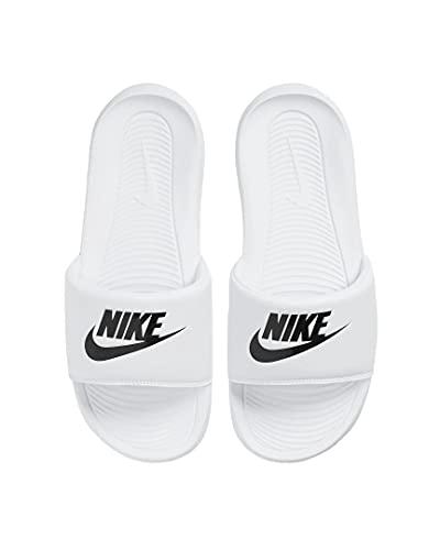 Nike Victori One Women Slides Badelatschen (White/Black, Numeric_39)