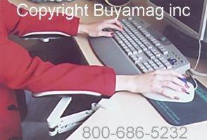 ErgoRest - 330-011-BK - ErgoRest Articulating Arm Support - Black - Standard Arm, Long Pad