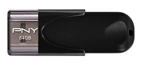 PNY FD64GATT4-EF - Memoria USB 2.0 de 64 GB, color negro