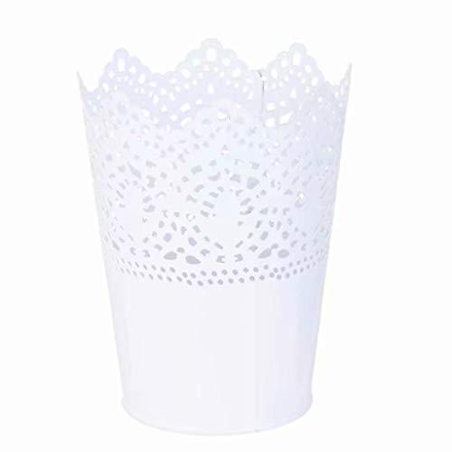 1pcs Metall Schneiden Pflanze Vase Topf Stift Make-up Bürstenhalter Schreibtisch Ordentlich Organizer Veranstalter Aufbewahrungskorb
