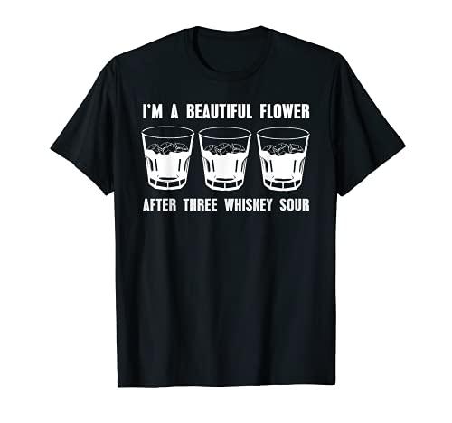 Whiskey Sour Whiskey Drink Whisky Rocks Fan Bourbon T-Shirt