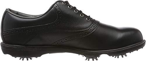 Footjoy Herren Hydrolite 2.0 Golfschuhe, Schwarz (Black/Black Tumbled), 44.5 EU