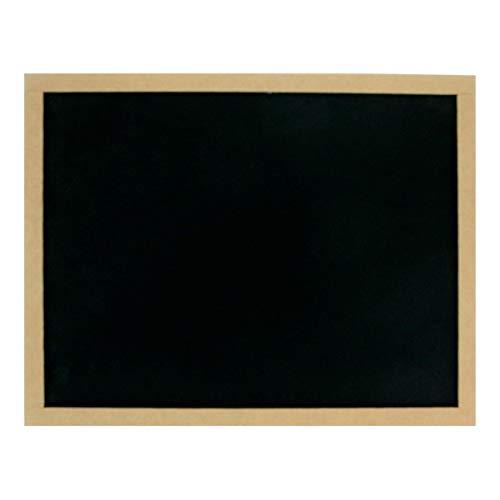 Fantasias Miguel Mylin Pizarrón con Marco para Gises de Madera Grande 35cm de Alto x 45cm de Largo, Negro