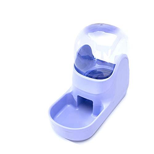 Rayber Dispensador de comida y agua, dispensador automático para gatos, cachorros, conejos, lila; 35,5 x 17,5 x 27 cm
