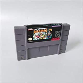 Game card - Game Cartridge 16 Bit SNES , Game Marioed Series Games Super Mario World & All stars - US verion battery Save