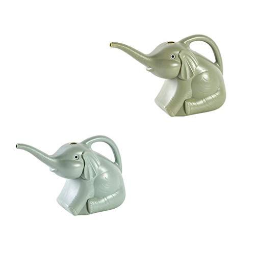 FABAX Plante Arrosoirs Elephant Arrosoir intérieur arrosoir for Maison Bonsai Jardin des Plantes de Fleurs en Plastique Long Bec d'arrosage Vaporisateur Arrosoir (Color : 2 Pieces of Blue Green)