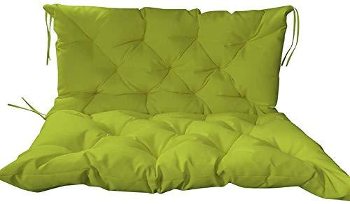 ACEMIC Cojín Grueso para Asiento de Banco de jardín con Respaldo, Funda de cojín para Asiento de sofá, colchón Impermeable para Columpio de Banco de Interior al Aire Libre para 2-3 plazas (100x50x5