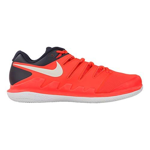 Nike Herren Air Zoom Vapor X Clay Fitnessschuhe, Mehrfarbig (Bright Crimson/Phantom/White 600), 45 EU