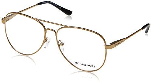 Michael Kors Damen 0MK3019 Sonnenbrille, Pale Gold/Tone, 56