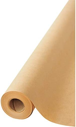 """Brown Kraft Paper Jumbo Roll 17.75"""" x 1200"""" (100ft) Made in USA- Ideal for Gift Wrapping, Packing Paper for Moving, A..."""