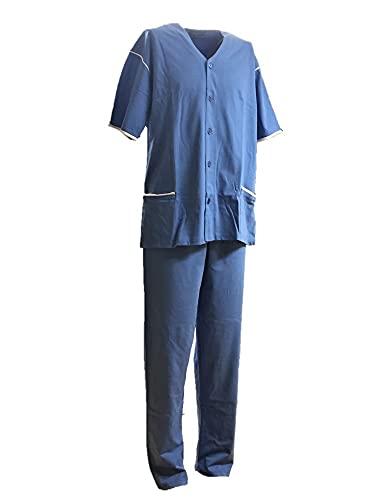 Pijama para hombre de algodón 100 % Bip Bip, fabricado en Italia, Provence, S