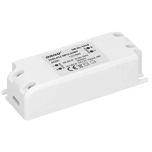 Orno Transformateur 12v (90VAC-254VAC à 12VDC) pour G4 MR11 MR16 GU5.3 LED Ampoules ou bandes de LED (6W-50W), IP20 (9W)